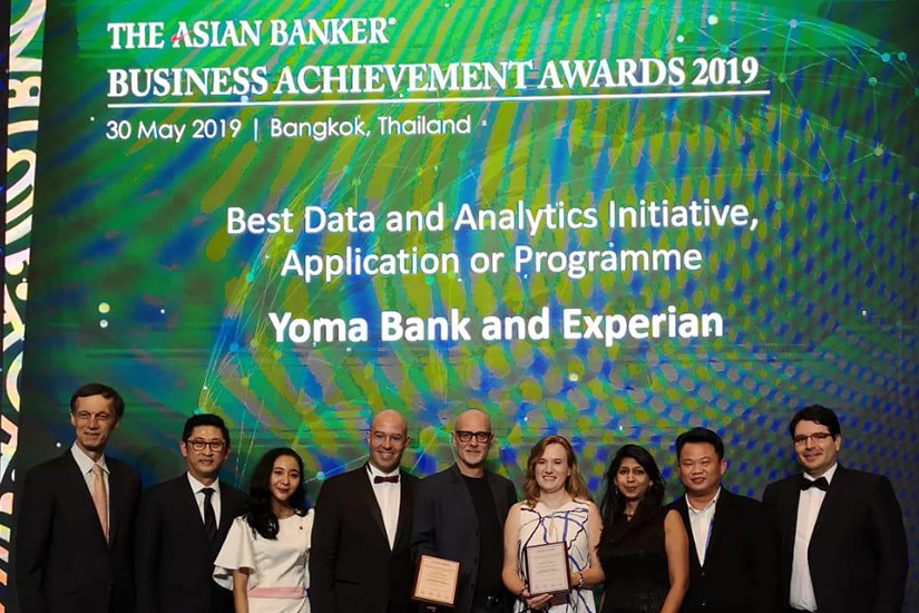 Yoma Bank and Experian awarded the Best Data and Analytics Initiative, Application or Programme at The Asian Banker Financial Technology Innovation Awards Programme 2019